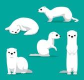 Gullig illustration för vektor för tecknad film för vinterlagvessla Royaltyfri Fotografi