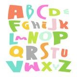 Gullig illustration för alfabetvektoruppsättning Royaltyfria Bilder