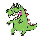 Gullig ilsken tecknad filmdinosaurie också vektor för coreldrawillustration Royaltyfria Foton