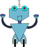 Gullig isolerad futuristisk robot stock illustrationer