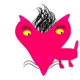 Gullig isolerad vektor för rosa färger räv Royaltyfri Foto