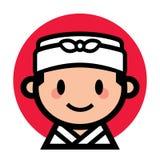 Gullig japansk kock Fotografering för Bildbyråer