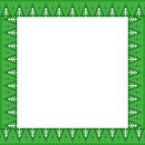 Gullig jul eller gräns för nytt år med granträd på grön bakgrund Royaltyfri Fotografi