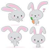 gullig kanin little royaltyfri illustrationer