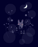 gullig kanin little stock illustrationer