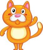 gullig katt royaltyfri illustrationer