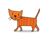 Gullig katt Arkivbilder