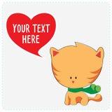 Gullig katt för tecknad film Royaltyfria Foton