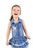 gullig klänningflicka little le för stående royaltyfria bilder