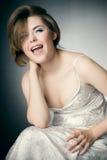 gullig klänningflickasilver Royaltyfri Fotografi