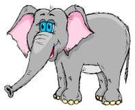 Gullig knapphändig elefant Royaltyfria Bilder