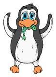 Gullig knapphändig pingvin Royaltyfri Fotografi