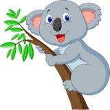 Gullig koalatecknad film stock illustrationer