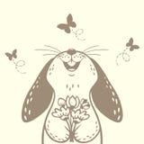 Gullig kontur för kanin Royaltyfria Bilder
