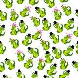Gullig krokodil eller alligator Royaltyfri Bild