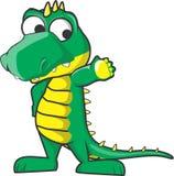 Gullig krokodilhälsning Arkivfoton