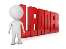 gullig ledare för folk 3d Arkivbild