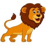 Gullig lejontecknad film Arkivbild