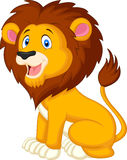 Gullig lejontecknad film royaltyfri illustrationer