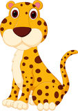 Gullig leopardtecknad film stock illustrationer