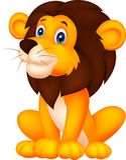 gullig lion för tecknad film Arkivfoton