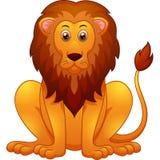gullig lion för tecknad film Royaltyfri Illustrationer