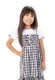Gullig liten asiatisk flicka Arkivfoto