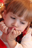 Gullig liten flicka Royaltyfria Bilder
