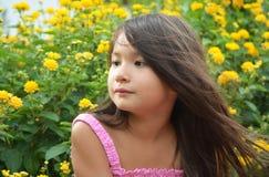 gullig liten flicka Arkivfoto