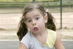 Gullig liten flicka Royaltyfria Foton