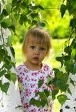 Gullig liten flicka i lekplatsen Royaltyfri Foto