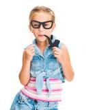 Gullig liten flicka med arkivbild