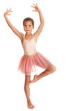 Gullig liten gymnast Royaltyfri Bild