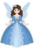 Gullig liten magisk flicka för saga Royaltyfri Foto
