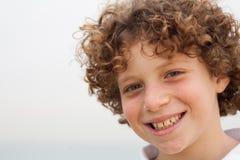 Gullig liten pojke på semester Royaltyfria Bilder