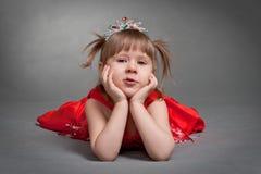 gullig liten princess Arkivbilder
