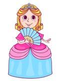 Gullig liten prinsessa med en diadem Arkivfoton