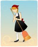 gullig maid för broomstick Royaltyfria Foton