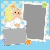 Gullig mall för babys kort Royaltyfri Bild