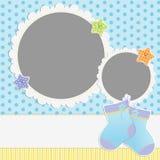 Gullig mall för babys kort Arkivfoton
