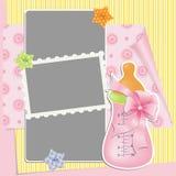 Gullig mall för babys kort royaltyfri illustrationer