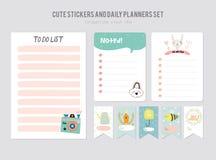 Gullig mall för daglig kalender royaltyfri illustrationer