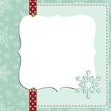 Gullig mall för vykort för nytt år för jul Royaltyfri Bild