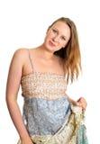 gullig maxi klänningflicka Royaltyfri Fotografi