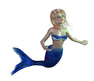 gullig mermaid Arkivfoto