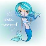 gullig mermaid för tecknad film Fotografering för Bildbyråer