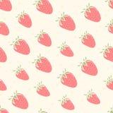 Gullig modell med jordgubbar vektor illustrationer