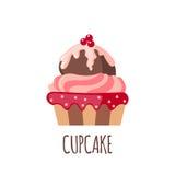 Gullig muffinsymbol Royaltyfri Foto