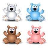 gullig nalle för blandade björnar vektor illustrationer