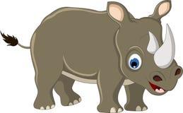 Gullig noshörningtecknad film Royaltyfri Bild